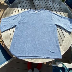 J Jill Pure Jill Size 3X Blue Bell Sleeve Sweater